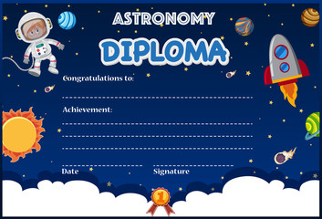 An astronomy diploma template
