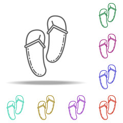 flip-flops dusk icon. Elements of Summer holiday & Travel in multi color style icons. Simple icon for websites, web design, mobile app, info graphics
