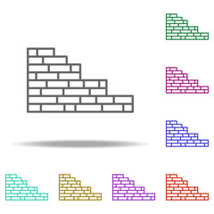 Brick wall outline icon. Elements of Construction in multi color style icons. Simple icon for websites, web design, mobile app, info graphics