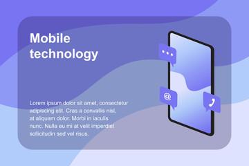 Mobil Technology wiht Isometric Design, Vector, EPS 10