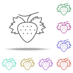 Strawberry dusk icon. Elements of Vegetables in multi color style icons. Simple icon for websites, web design, mobile app, info graphics