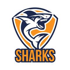 Shark mascot logo template