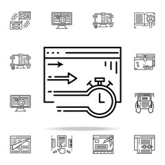 website session icon. Web development icons universal set for web and mobile