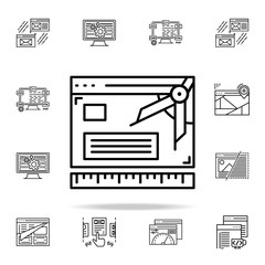 create prototype icon. Web development icons universal set for web and mobile