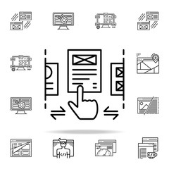 ux design icon. Web development icons universal set for web and mobile