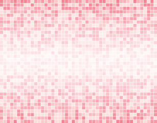The Light Pink Square Mosaic Tiles Background.