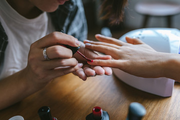 Girls doing their nails
