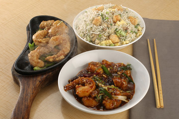 Prawn Teppanyaki-Mixed Fried Rice-Prawn spicy royal Thai Sauce-