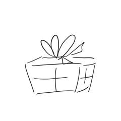 クリスマスプレゼントイメージ落書き風イラスト・塗りなし線画