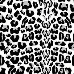 Leopard seamless pattern. Animal print. pattern with leopard fur texture. Repeating leopard fur background for textile design, wrapping paper, wallpaper or scrapbooking. Vector background