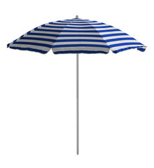 Beach umbrella - Blue-white striped