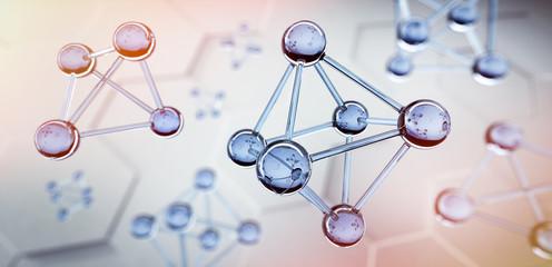 Transparente Oktaeder - Molekülstruktur und Nanotechnologie