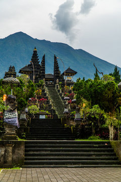 Pura Besakih, a Hindu temple at the base of the active volcano, Mount Agung