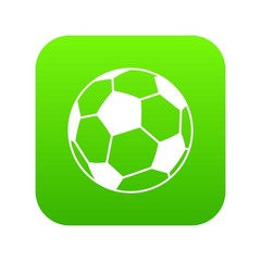 Soccer ball icon digital green for any design isolated on white vector illustration