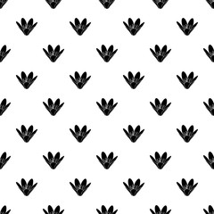 Eco flower pattern vector seamless repeating for any web design
