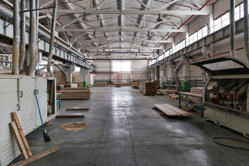 Warehouse sawn wood processing enterprises