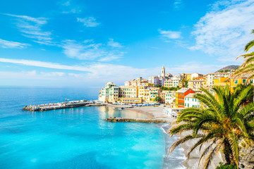 View of Bogliasco. Bogliasco is a ancient fishing village in Italy, Genoa, Liguria.