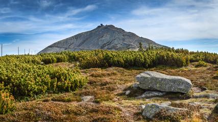 Highest peak of Lower Silesia - Sniezka Mountain in Karkonosze/Poland
