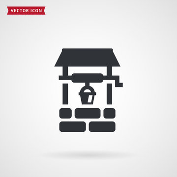 Water well vector icon