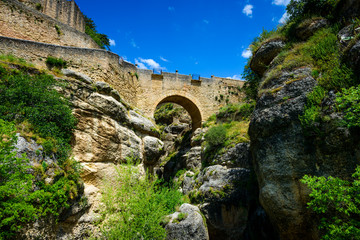 Puente Viejo or Puente Arabe, Ronda, Andalusia, Spain