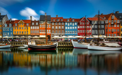 Postcard of Copenhagen. 28'' LE in this beautifull canal area of Copenhagen, Denmark.