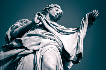 Acrylic Prints Historic monument Statue of Angel with the Veil