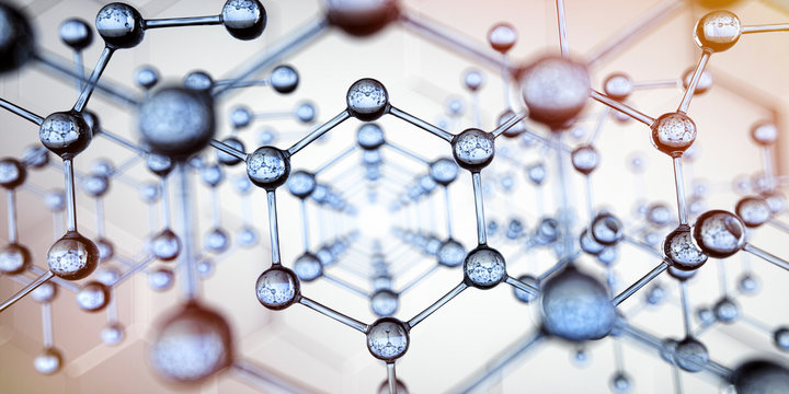 Transparente Molekülstruktur - Nanotechnologie