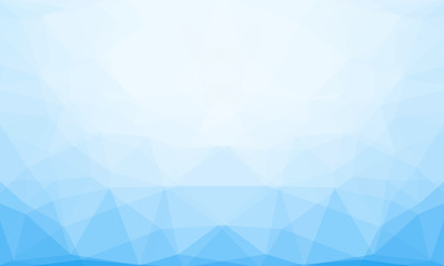 Blue winter low-poly banner. Vector 3D design template. Geometric background with ice texture.