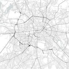 Vector city map of Berlin in black and white
