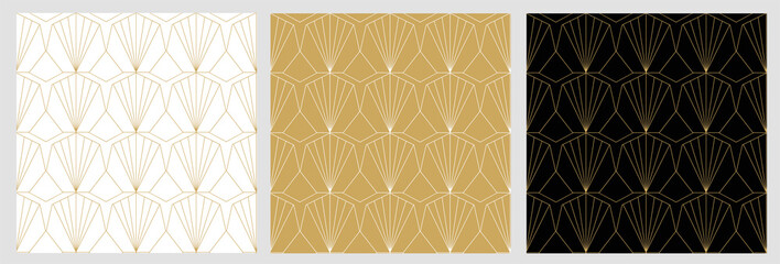 Art deco geometric seamless vector pattern