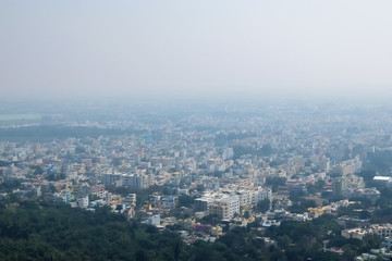 Tirupati, India. View of Tirupati cityscape from Tirumala hill.