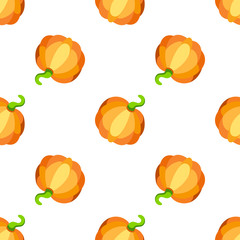 Pumpkin cartoon vector seamless pattern