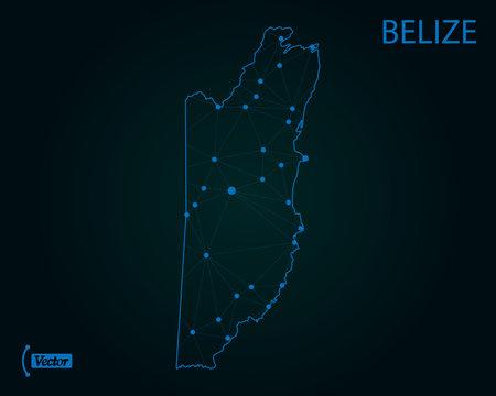 Map of Belize. Vector illustration. World map