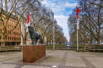Photo sur Plexiglas Commemoratif Bergischer Lion, Dusseldorf, Germany