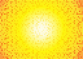 Vector : Abstract square on yellow and orange background