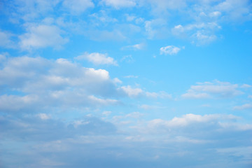 Beautiful white cloud formation over blue skies.