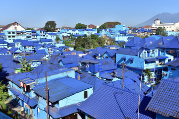 Blue Village of Arema in Malang City, Indonesia