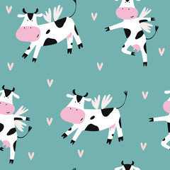 cute print with cow