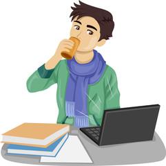 Teen Boy Energy Drink Illustration