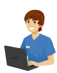 Teen Boy Med School Experience Data Illustration