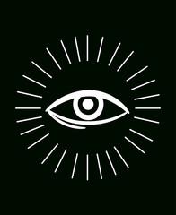 Clairvoyance Eye Rays Illustration