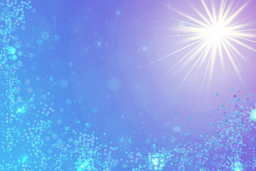 Christmas background with snowflakes and sparkles. Sparkling vector festive background banner template, poster, invitation, greetings.