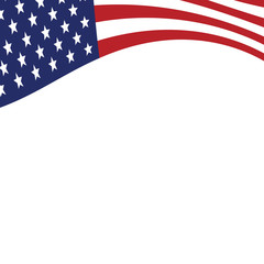American flag vector background. The Flag Of The United States Of America