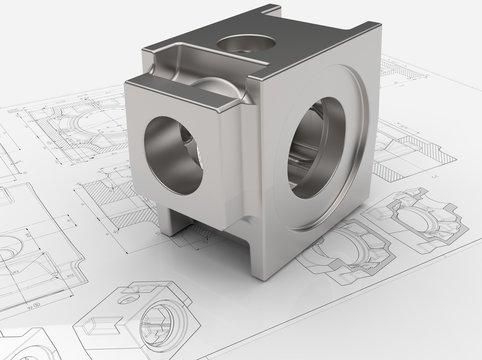 CAD-Modell Gehäuse