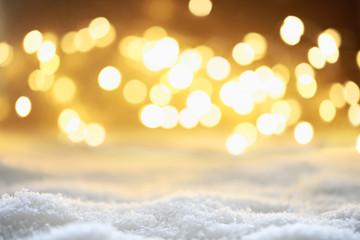 Bokeh Hintergrund mit Schnee