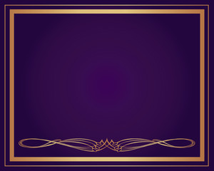 Background-Elegant Gold with Purple for Wedding or Corporate