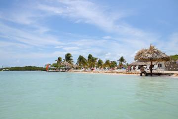 Belize, beach, Tourists, Palms