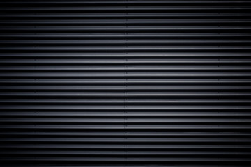 black corrugated metal texture background