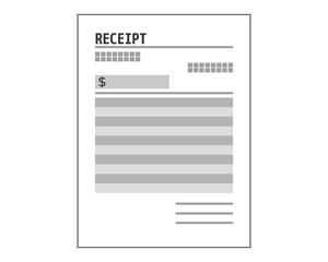 領収書 領収 レシート receipt レセプト ドル