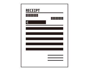領収書 領収 レシート receipt レセプト ユーロ